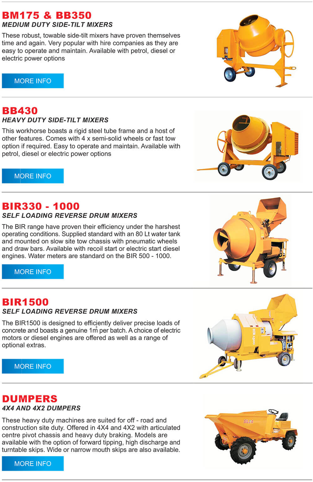 dumpers products