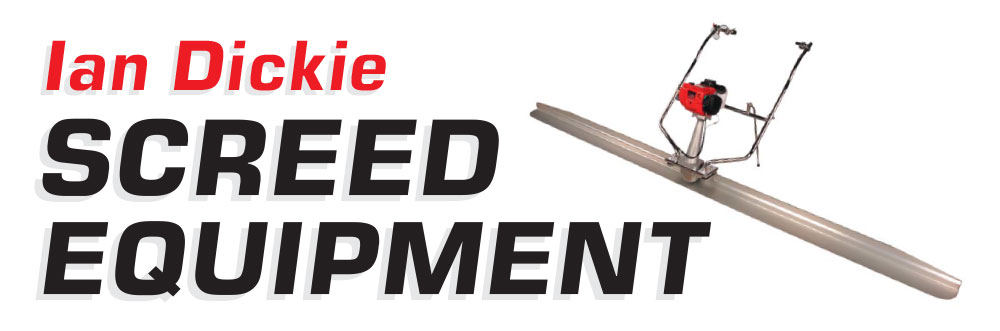 Ian Dickie Screed Equipment